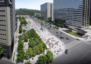 クァンファムン(光化門)広場の東側道路を拡幅、3月6日土曜日0時から対面通行可能に