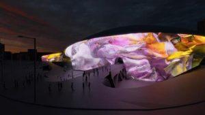 DDPの外壁220mに繰り広げられる壮観な春の花「ソウルライト」が開幕