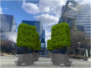 ソウル市、コンクリートの上にサプライズ木陰…「動く公園」8か所を追加造成