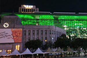 メキシコ独立200周年を記念して、ソウル市庁建物をライトアップ