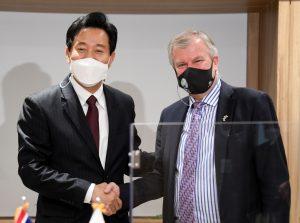 サイモン・スミス駐韓英国大使と面談