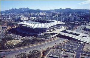 Seoul World Cup Stadium from Nanjido(Daytime)