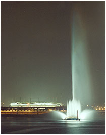 World Cup Water Fountain from Southern Hangang Riverside (Night)