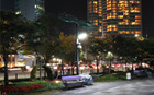スマート・ソーラーLED照明灯をG20会議場前に設置