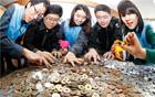 清渓川に投げ入れられたコイン、それに込められた愛は国境をも越える