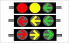 「矢印3色信号機」試験設置・運営