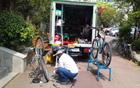 ソウル市、自転車通学モデル校に、自転車ラック及び空気入れを支援