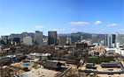 ソウル市西小門庁舎の貞洞展望台(13階)から美しい徳寿宮や貞洞の街を鑑賞しましょう。