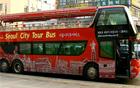 """二階建てオープンバスに乗って""""ソウルの伝統市場""""を観光してください。"""
