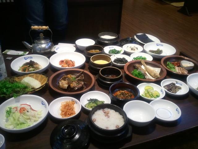 ソウルで食べたおいしい韓定食!!!