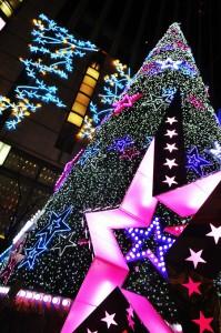 明洞のクリスマスツリー