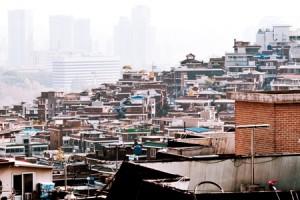解放村の屋根