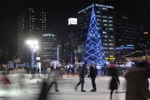 ソウル広場のスケートリンク