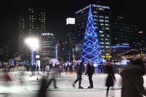 ソウル広場のクリスマス